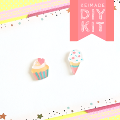 Make your own Cupcake & Ice-cream Earrings - DIY Craft Kit & How to video