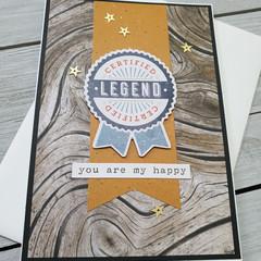 Certified Legend Handmade Card