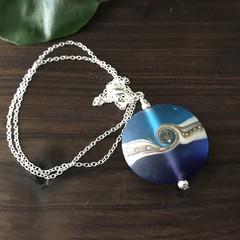 Handmade Ocean Beach Glass Pendant