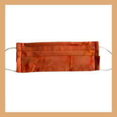 Orange tie dye handmade reusable face mask