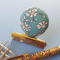 Light Blue Capel Liberty Floral Magnetic Bulldog Clip