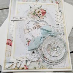 It's A Boy Handmade Card