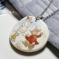 Snowball Bunnykins Pendant