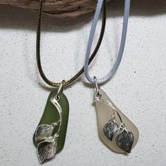 Seaglass Lily Charms