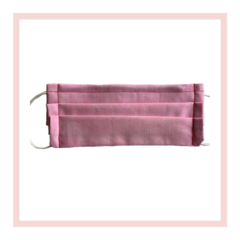 Marbled baby pink handmade reusable face mask