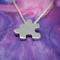 Jigsaw - Handmade Sterling Silver Pendant with Fine Chain