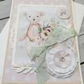 It's A Girl Handmade Card