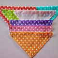 Bright polka dog print dog bandanas