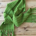 Handwoven Houndstooth Scarf