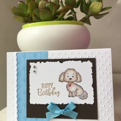 Birthday Handmade Card  - dog