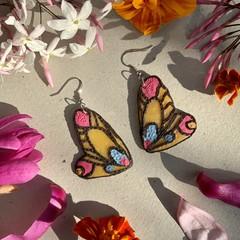 Polymer clay earrings - statement earring Butterfly