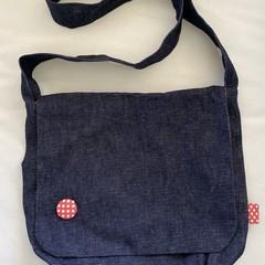 Funky Denim Messenger Bag