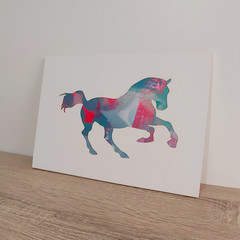 """Harriet the Horse"" original hand painted acrylic silhouette artwork"