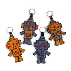 Handmade Felt Robot Keyring