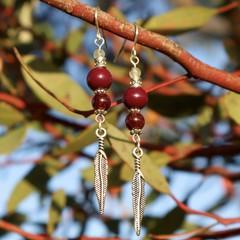 Garnet Billie Earrings