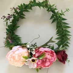 Ladies Faux Flower Crown