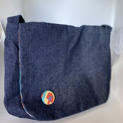 Small Funky Denim Messenger Bag