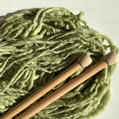 Australian wool hand knitted scarf