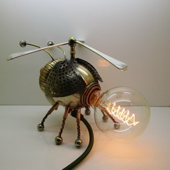 Steampunk Invention: Hybrid-Bee Airship Pilot.  Free Shipping