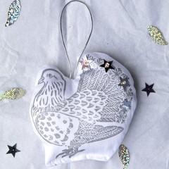 Fancy Pigeon Hanging Decoration / Christmas Ornament /  Bird Animal