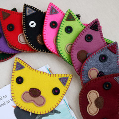 Handmade Felt Cat Corner Bookmark
