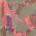 """Pink Sherbert"" original acrylic hand pulled print on paper"