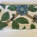 Floral and leaf print coin purse