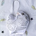 Fancy Pigeon Hanging Decoration / Christmas Ornament /  Bird Animal