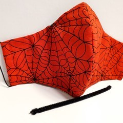 'RED WEB' 3 Layer Face Masks -Washable & Reusable