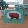 Wombat - A6 Greeting Card