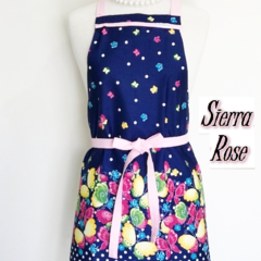 Blue Butterfly with Pink Trim -  Kitchen Apron -FREE POST!
