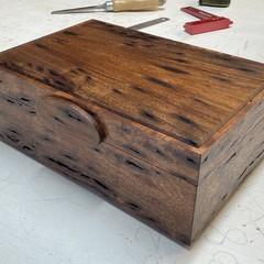 Jewellery | Keepsake | Valet | Wood Box In Blackwood Birds Eye
