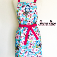 Bird & Floral Ladies Apron FREE Post!