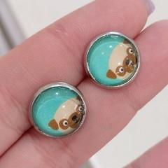 Pug Life Jamberry stud earrings