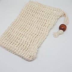 Natural cotton soap exfoliating bag