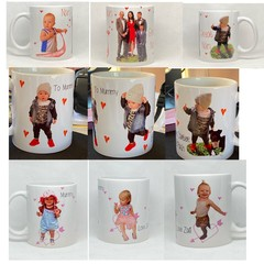 Customised photograph 11oz ceramic coffee mug, personalised, cute, love