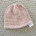 Soft Pink Newborn Baby Hat - Hand knitted