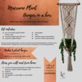 DIY Macrame Plant Hanger - Cotton & Instructions to make your own macrame retro