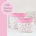 Fabric Basket PDF Sewing Pattern