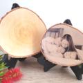Personalised Birch Wood Slice Photo Plaque