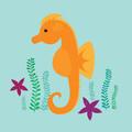 Seahorse - A6 Greeting Card