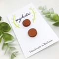 Hand dyed Leather STUD earrings
