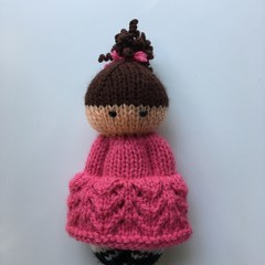 Maisie - Hand Knitted Doll