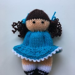 Pippa -  Hand Knitted Doll