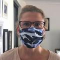 Commando Camo Blue - Pleated Face Mask