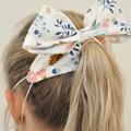 Purple Checkered Bow Ear Saver for Ear Loop Face Masks