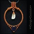 Quartz & Blue Goldstone Portal Pendant
