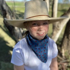 Lady beetle denim scarf / bandana