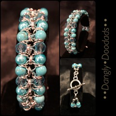 Beaded Ladder Chainmaille Bracelets (4x available)