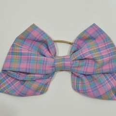 Purple Checkered Bow Ear Saver for Ear Loop Face Masks